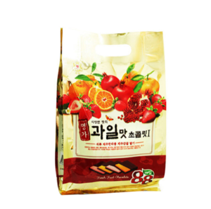 KRC006 과일맛초콜릿봉지420 | Fruity Favor Chocolate (Pouch) | 名價水果味的巧克力(袋) (420g, 10pack)