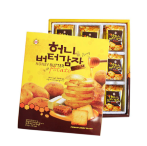 KRC008 허니버터감자랑구샤 |216Honey Butter Langue de chat | 蜂蜜土豆饼干 (216g, 16pack)
